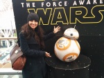 My wife (Sonal) with BB8
